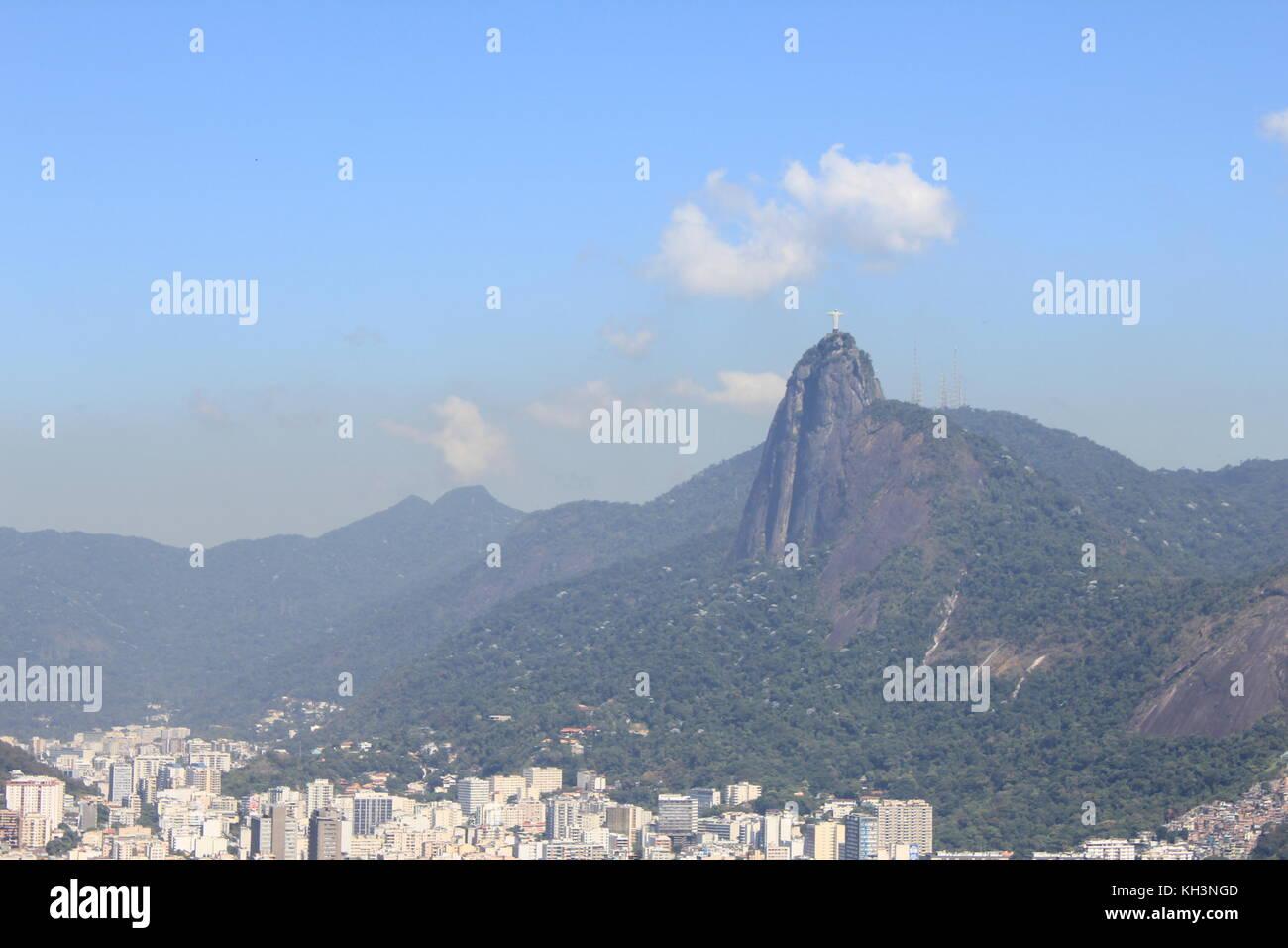 View from Corcovado in Rio de Janeiro Stock Photo