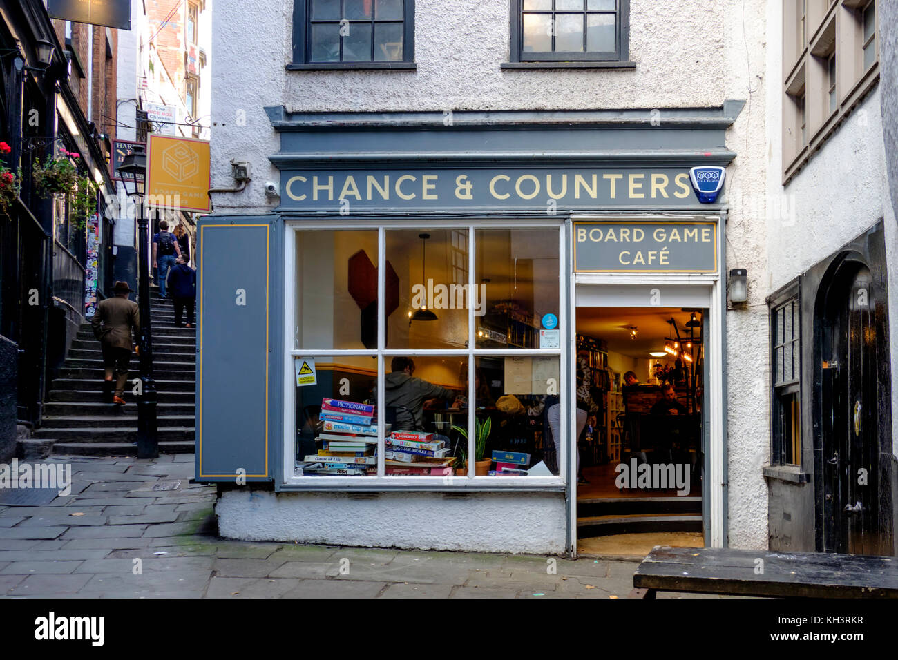 Chance & Counters a board game shop, Christmas Steps,Bristol england UK - Stock Image