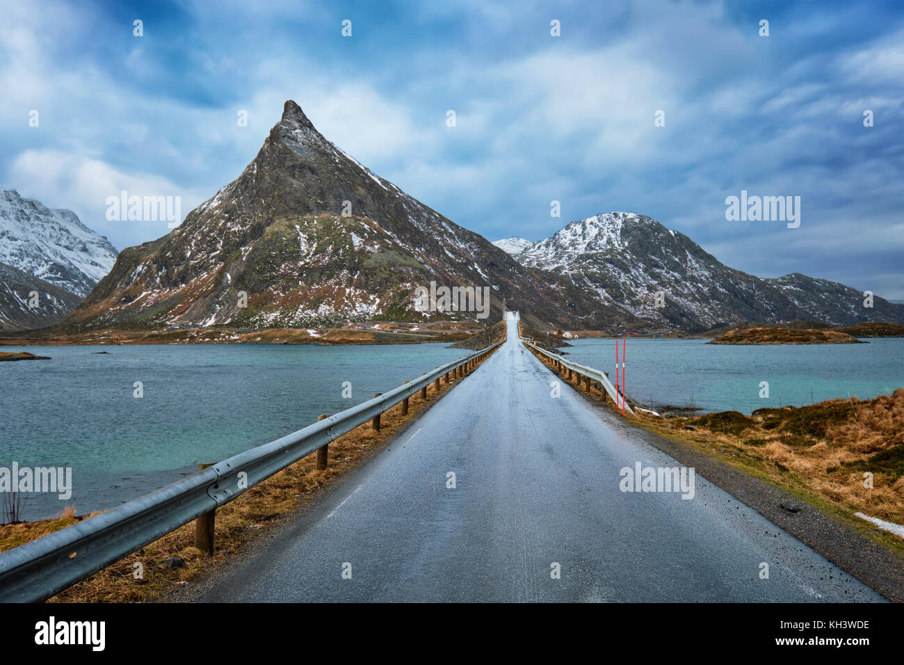 Road in Norway - Stock Image