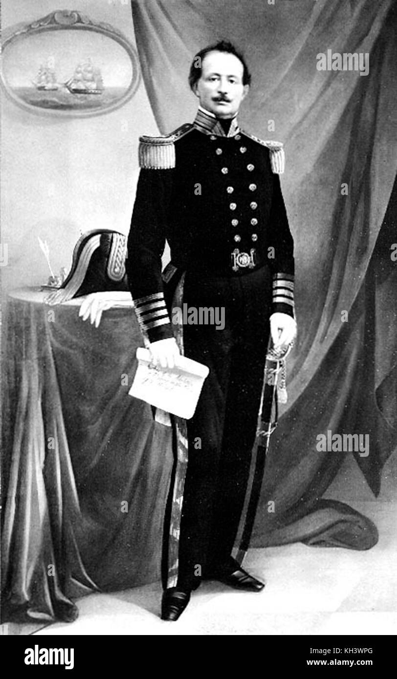 Uriah Phillips Levy, naval officer, first Jewish Commodore of the United States Navy. Uriah Phillips Levy, commodore - Stock Image