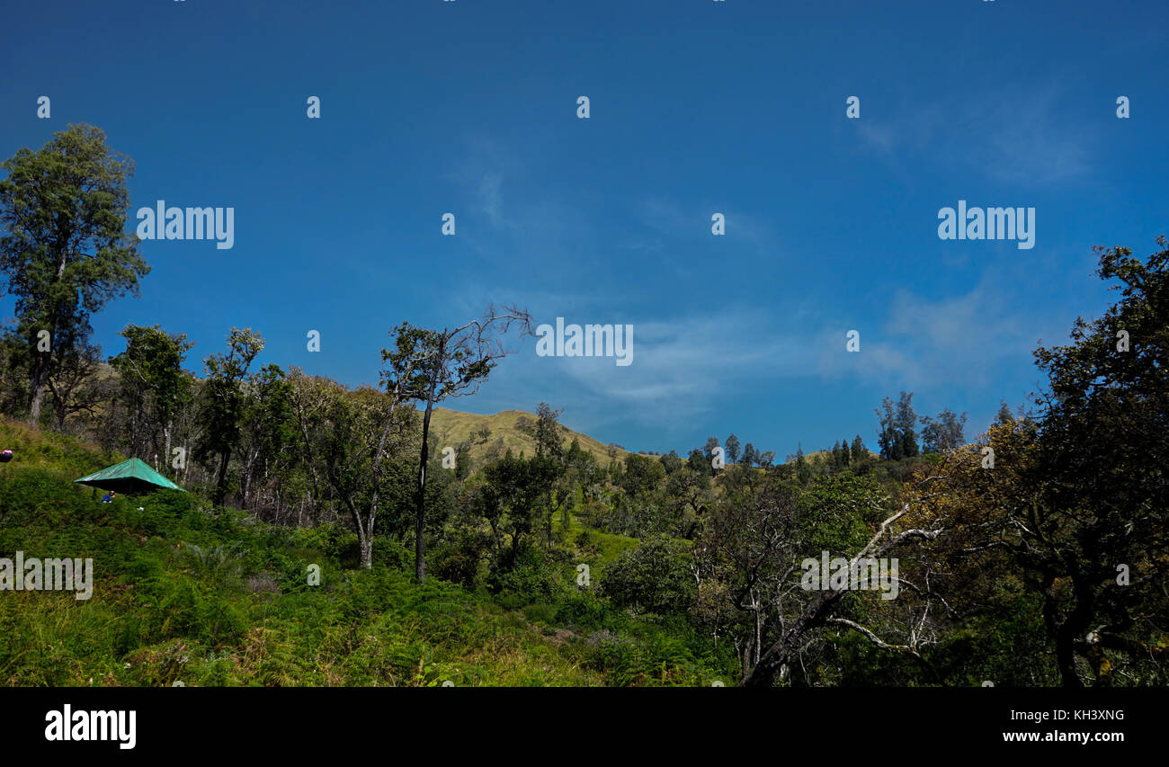 Mount Rinjani Lombok Indonesia - Stock Image