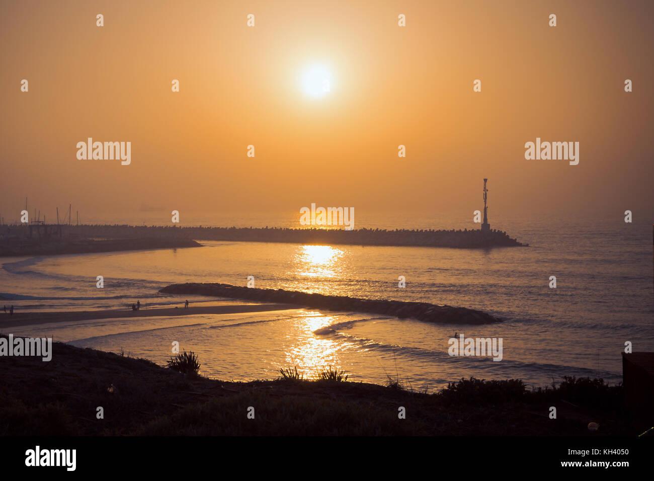 Lighthouse in Ashkelon. Evening shot - Stock Image