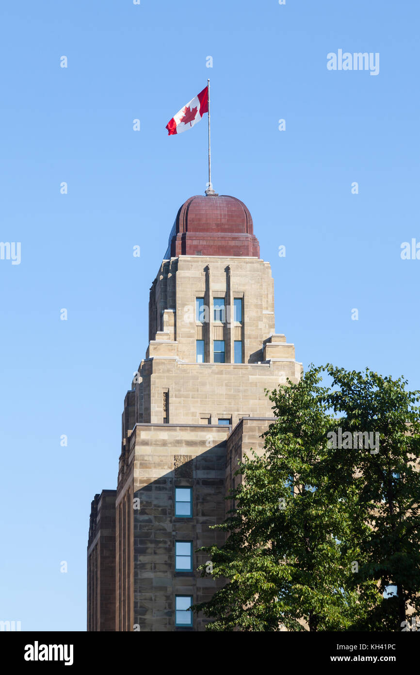 The Dominion Public Building in Halifax, Nova Scotia, Canada is an art deco building. - Stock Image