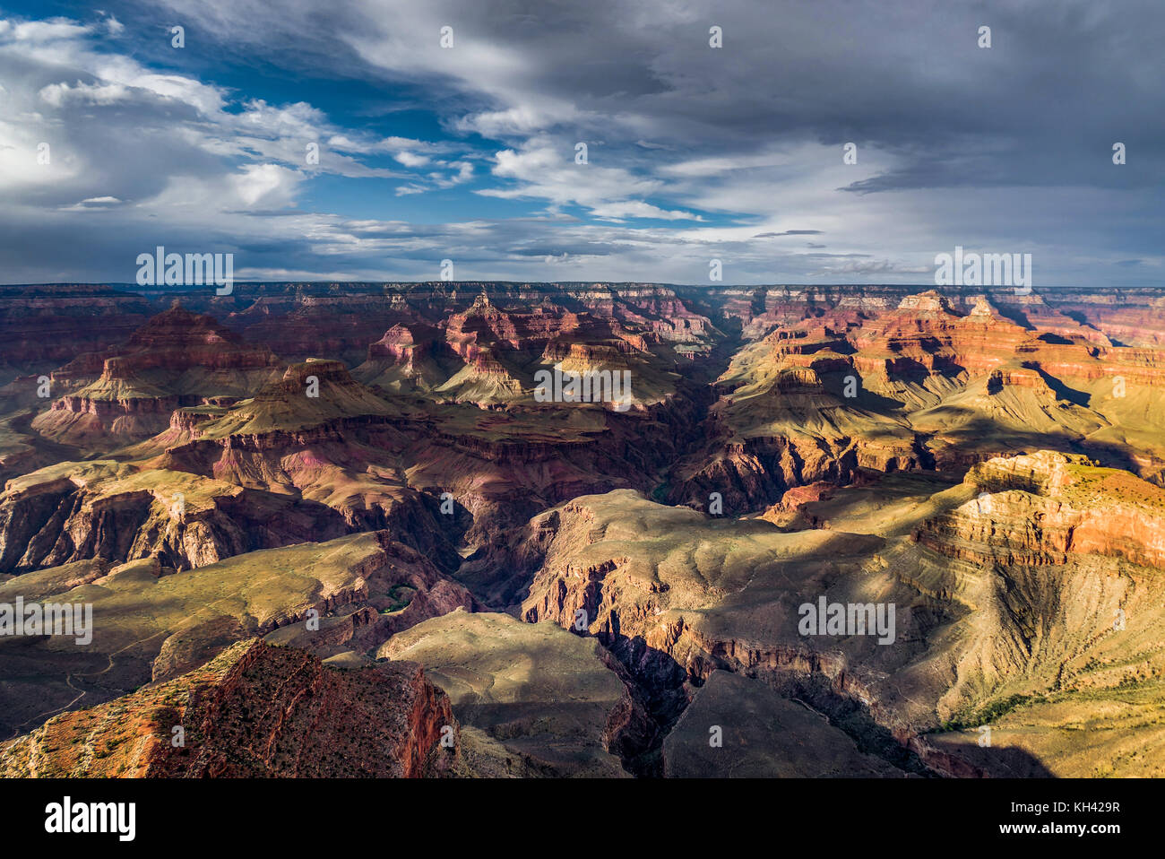 View across Grand Canyon South Rim Arizona - Stock Image
