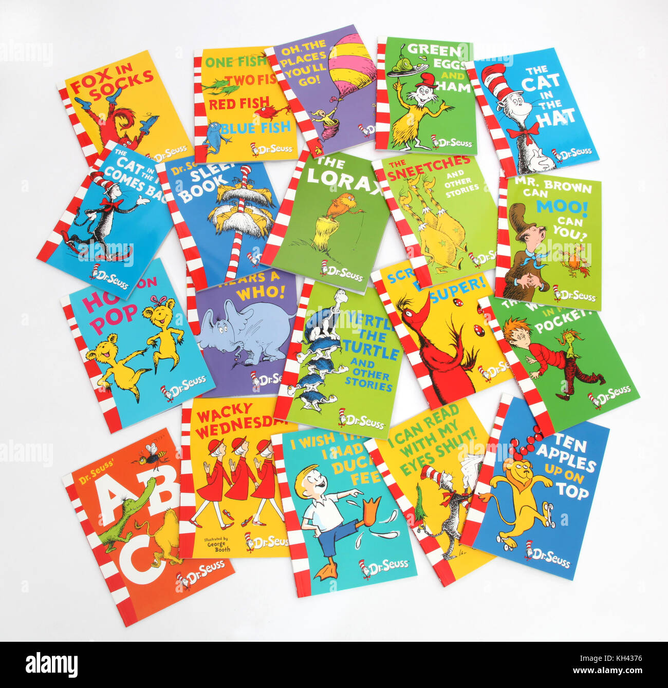 A collection of Dr Seuss books. - Stock Image