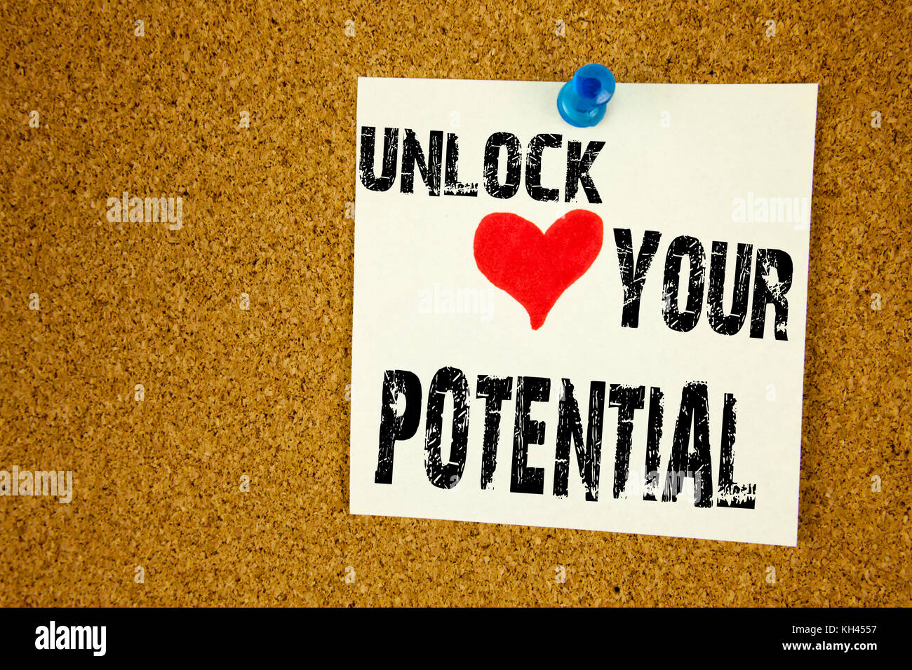 Conceptual hand writing text caption inspiration showing Unlock Your Potential. Business concept for Growth and - Stock Image