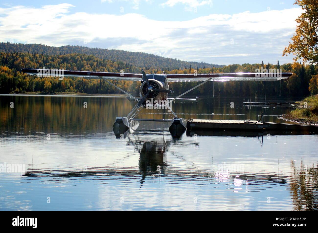 The ubiquitous yet quintessential Alaska bush plane, a DeHavilland DHC-2 'Beaver' - Stock Image