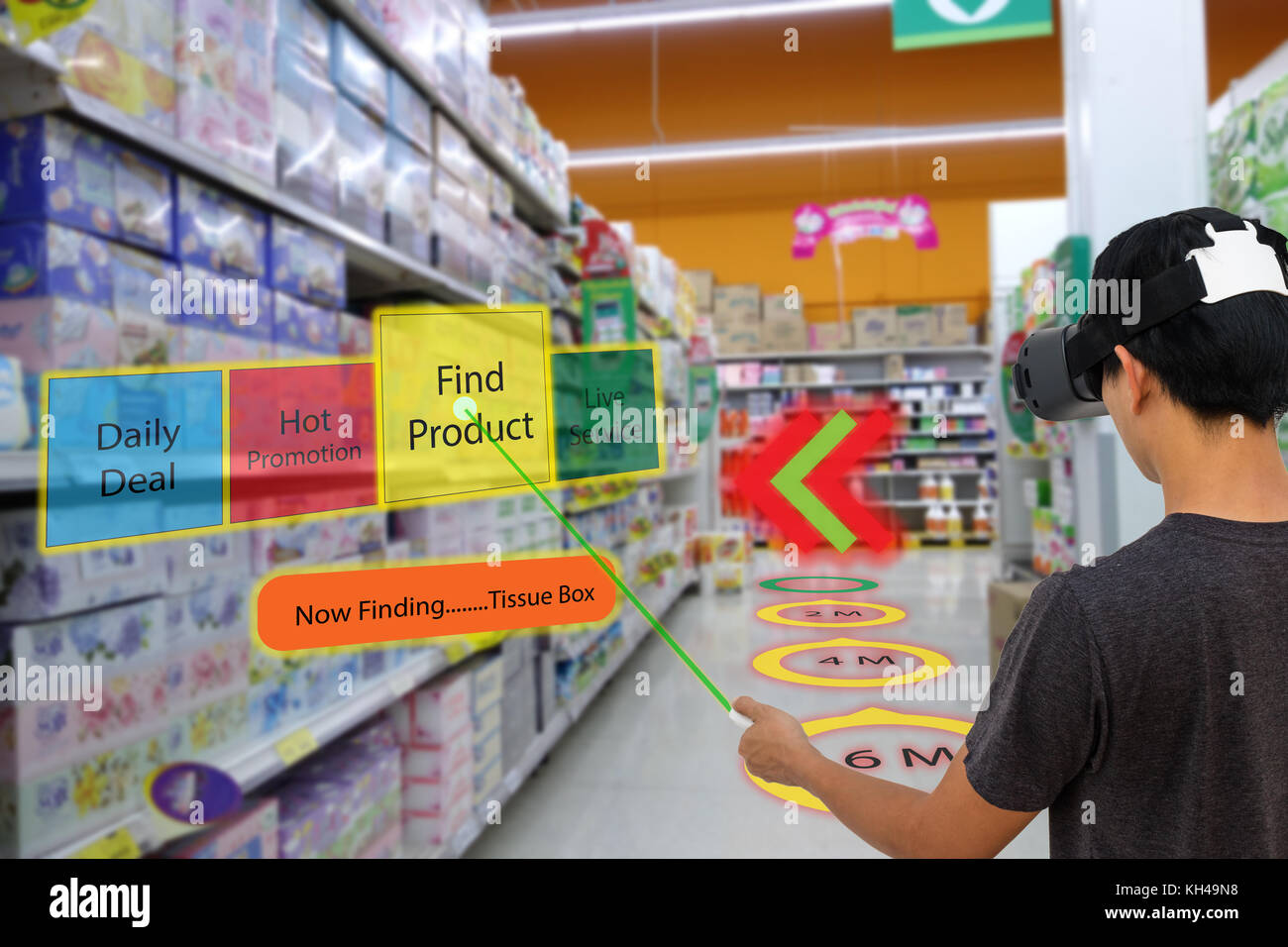 smart retail with augmented and virtual reality technology concept stock photo  165437924