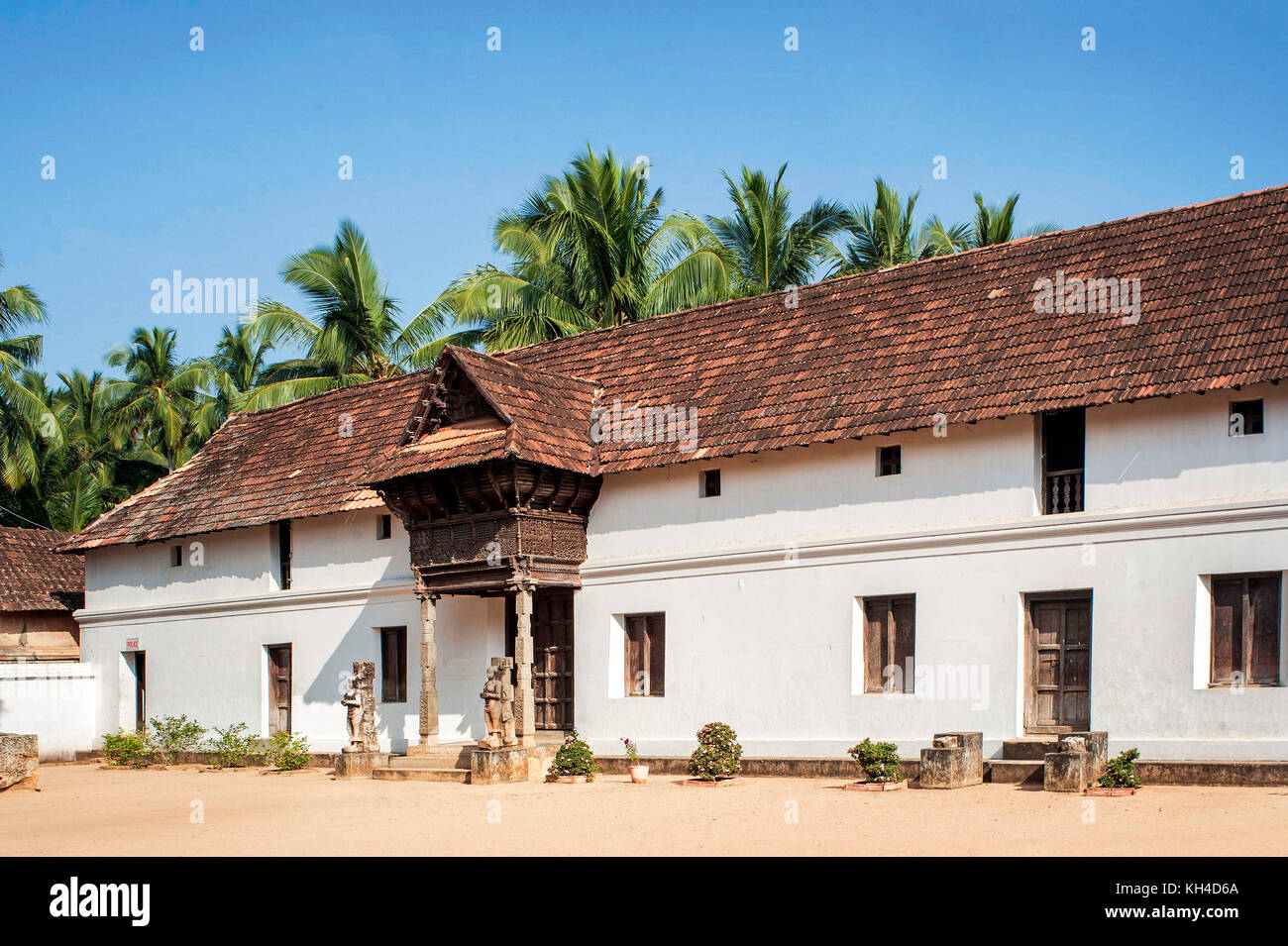 travancore kings ii wooden council chambers, Tamil nadu, India, Asia - Stock Image