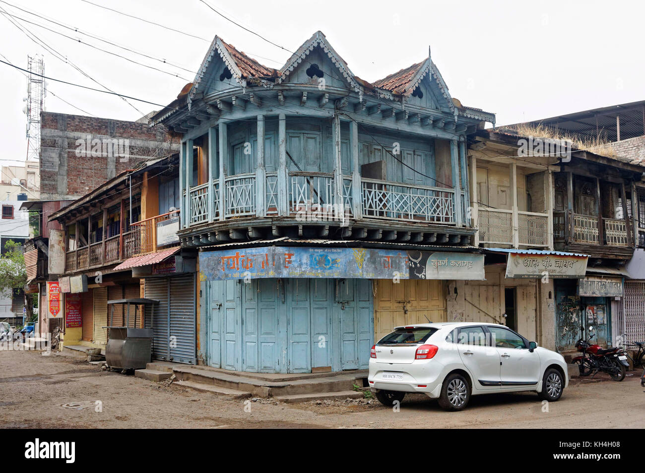house mahatma Gandhi marg, miraj, Maharashtra, India, Asia - stp 259684 - Stock Image