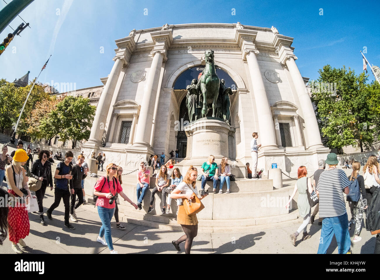 Museum of American Natural History, Central Park West, Manhattan, New York City, United States of America. - Stock Image