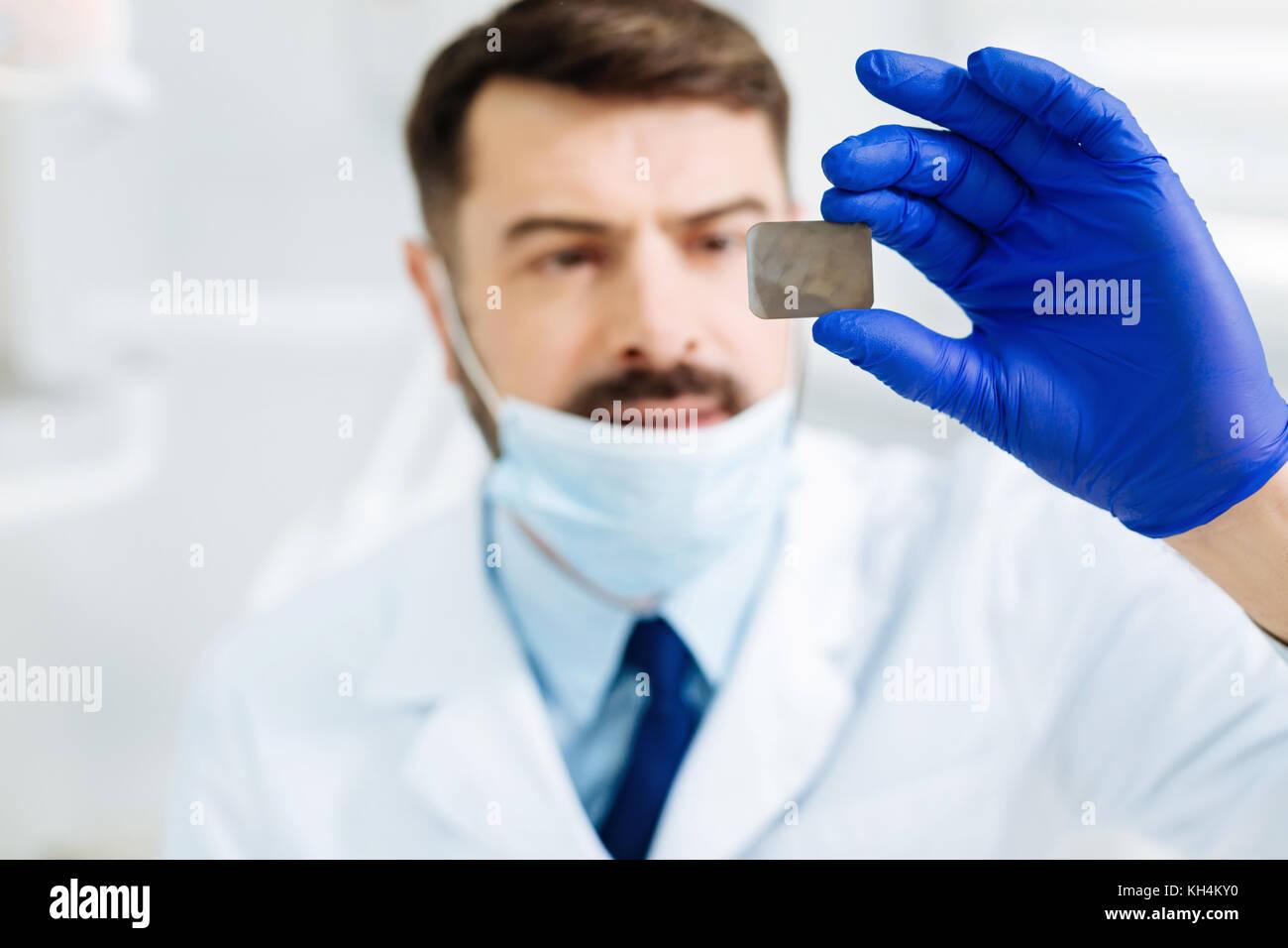 Close up of dental Xray image - Stock Image