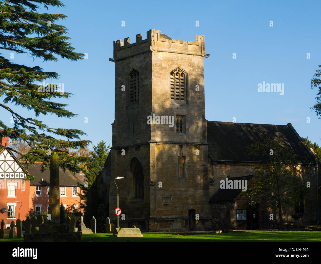 St Andrew's Centre Pershore Abbey Worcestershire England UK built to serve tenants of  Abbot of Westminster - Stock Image
