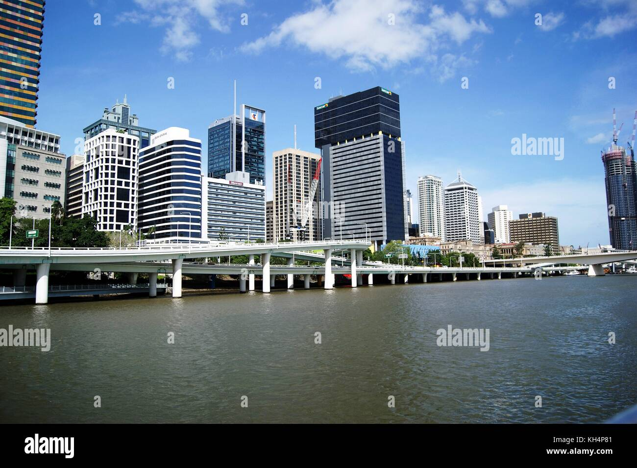 The centre of Brisbane and its River, Australia - Stock Image