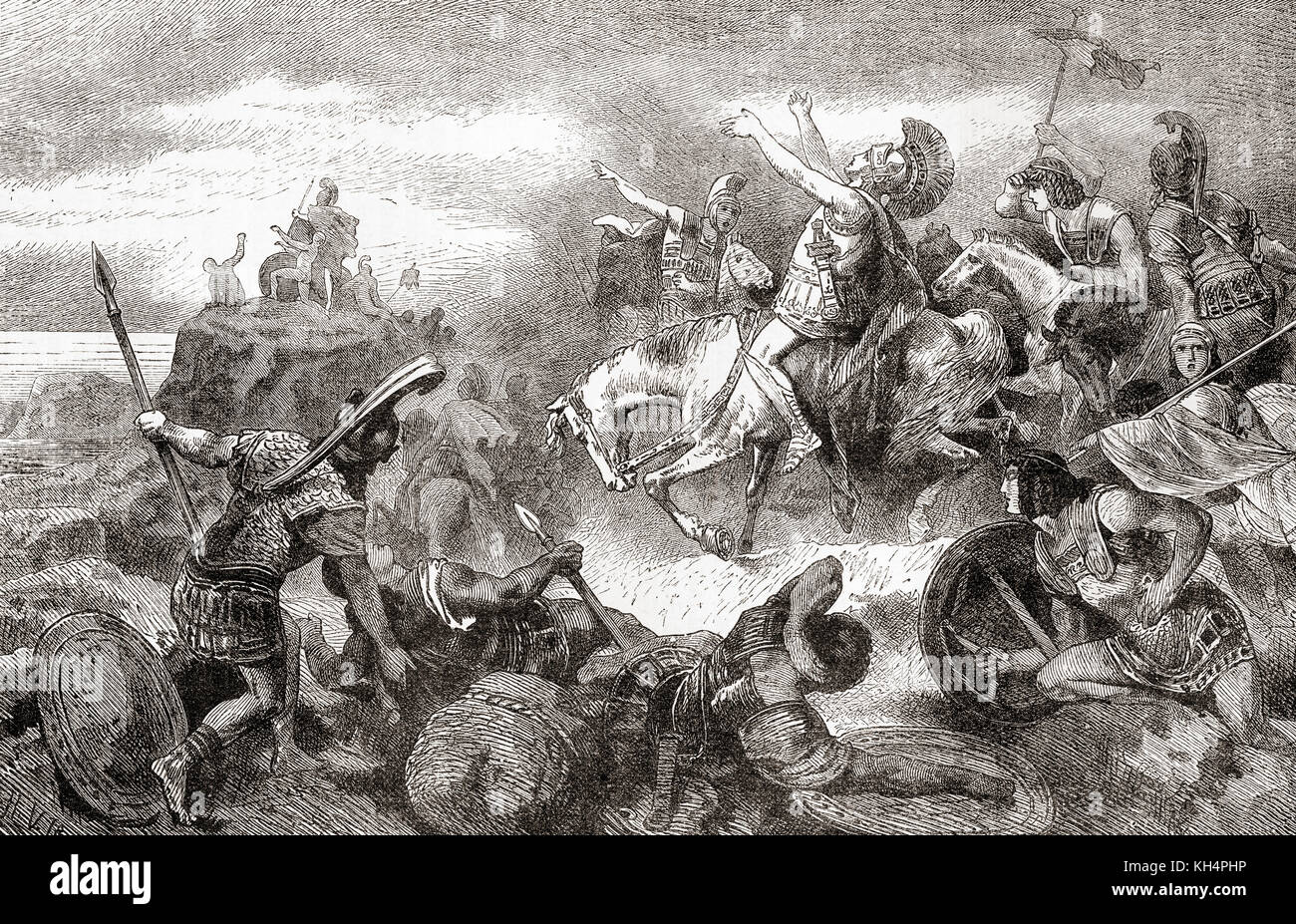 Xenophon and the Ten Thousand coming in sight of the sea after their march back from the Battle of Cunaxa.  Xenophon - Stock Image
