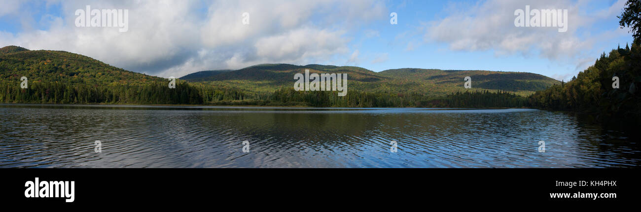 Panoramic Landscape of Lac Monroe at Mont-Tremblant Naional Park, Quebec, Canada, 2016 Stock Photo