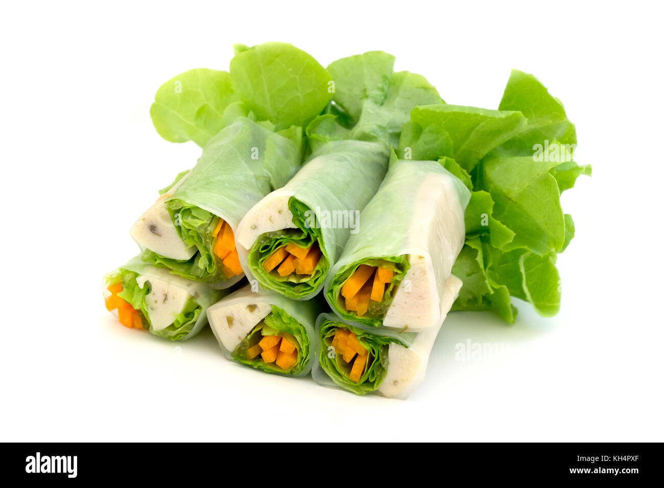 Thai Fresh spring rolls (Por Pia Sod) - Stock Image