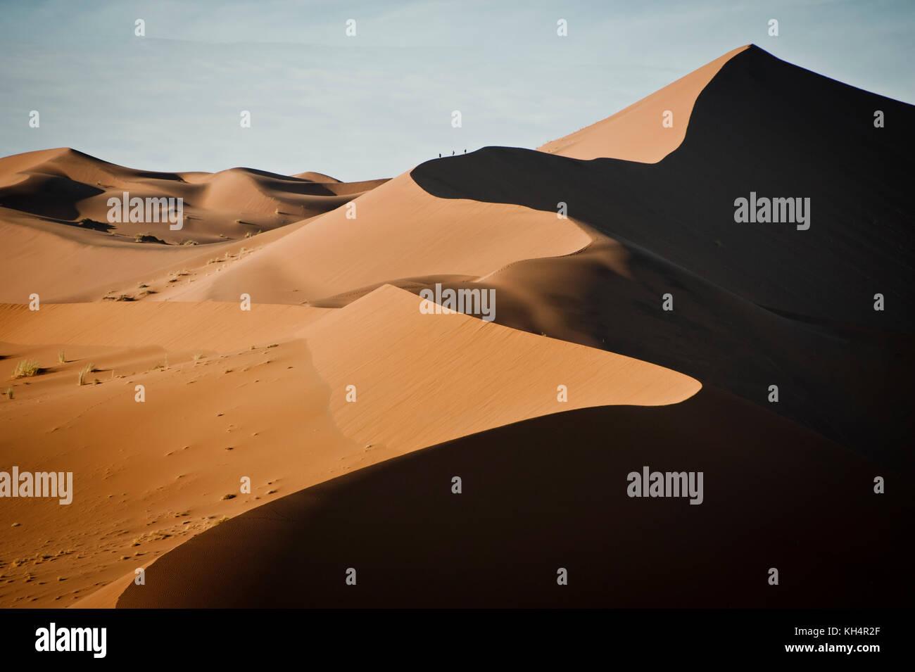 Dunes of Sossusvlei, Namib Desert, Namibia, Africa. - Stock Image