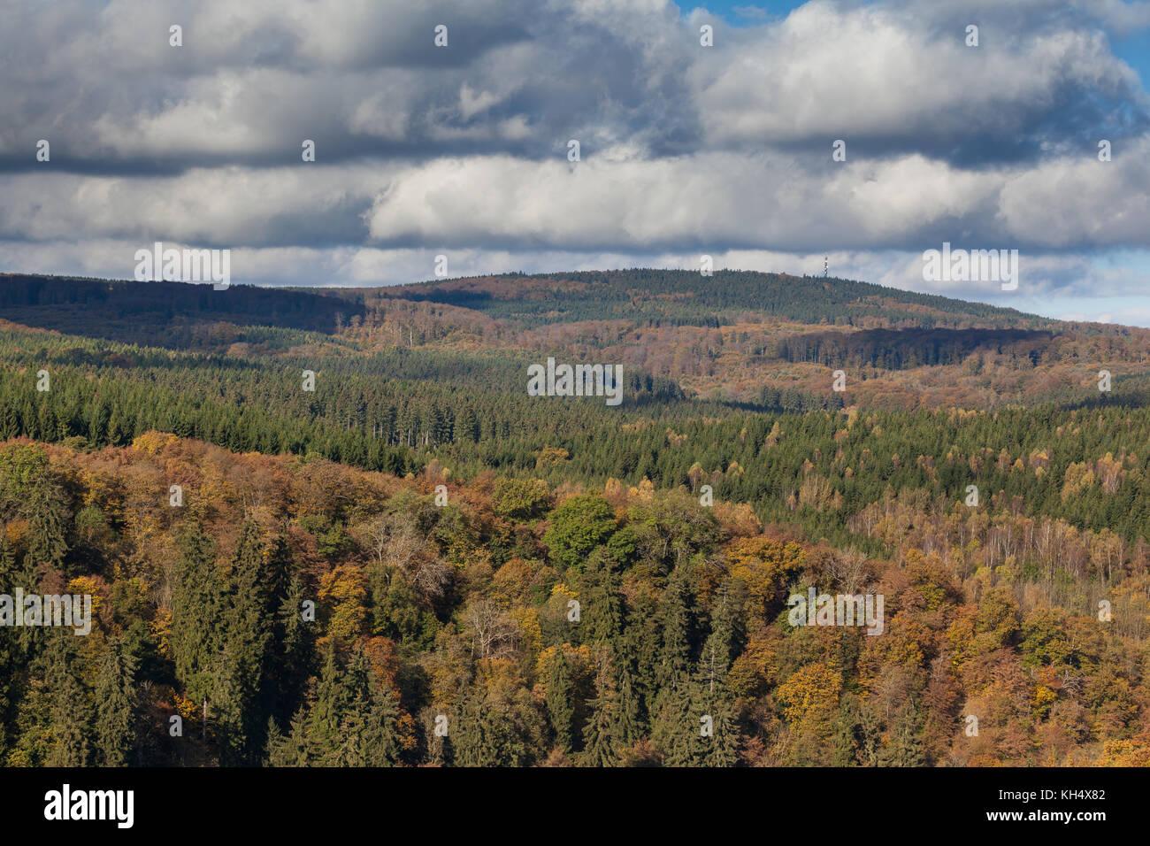 Blick Selketal im Herbst - Stock Image