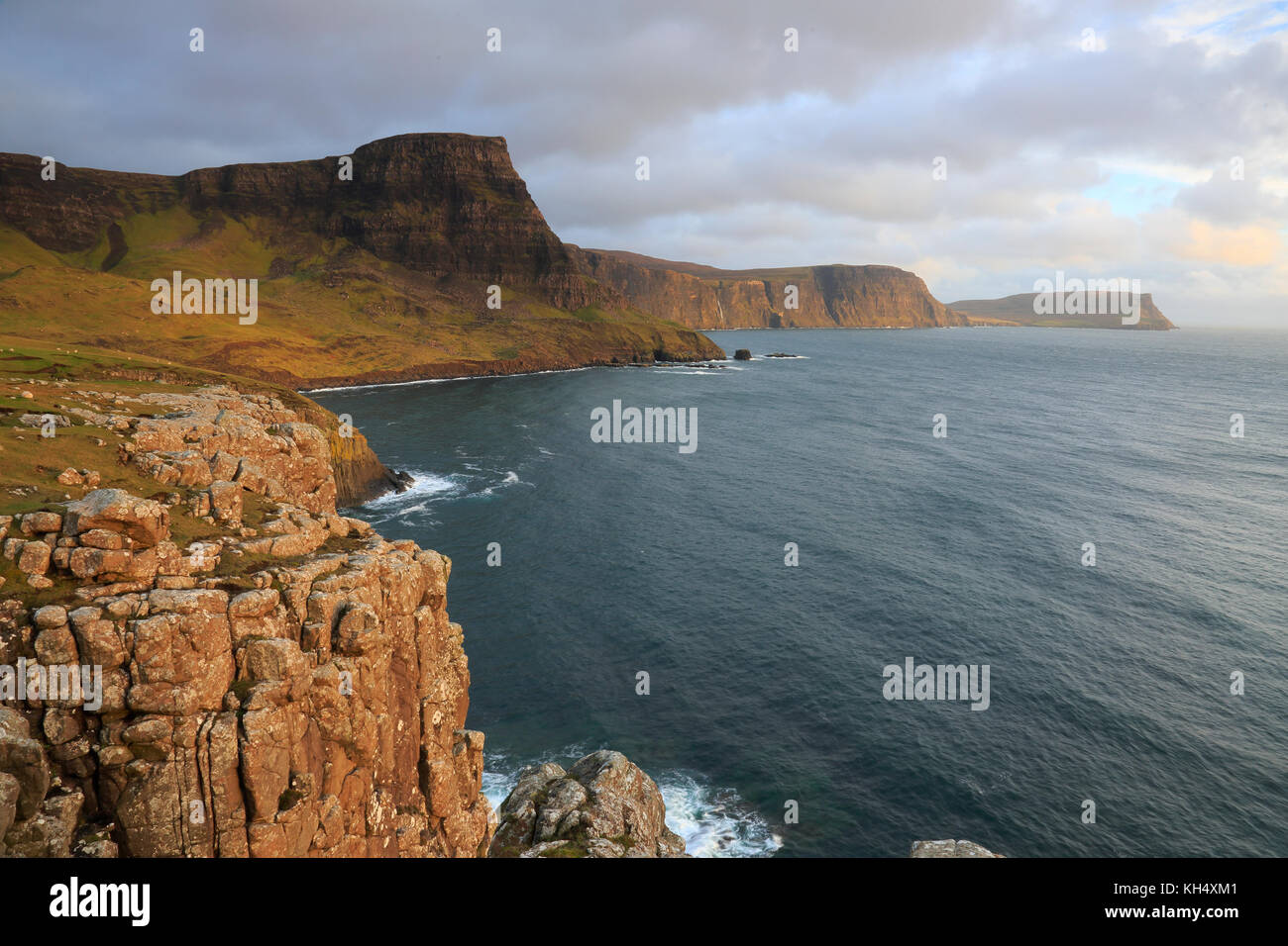 View of Waterstein Head Isle of Skye Stock Photo