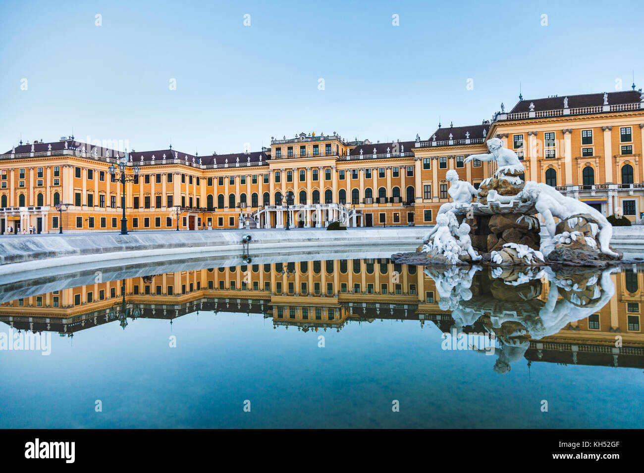 Schonbrunn Palace, imperial summer residence in Vienna, Austria - Stock Image