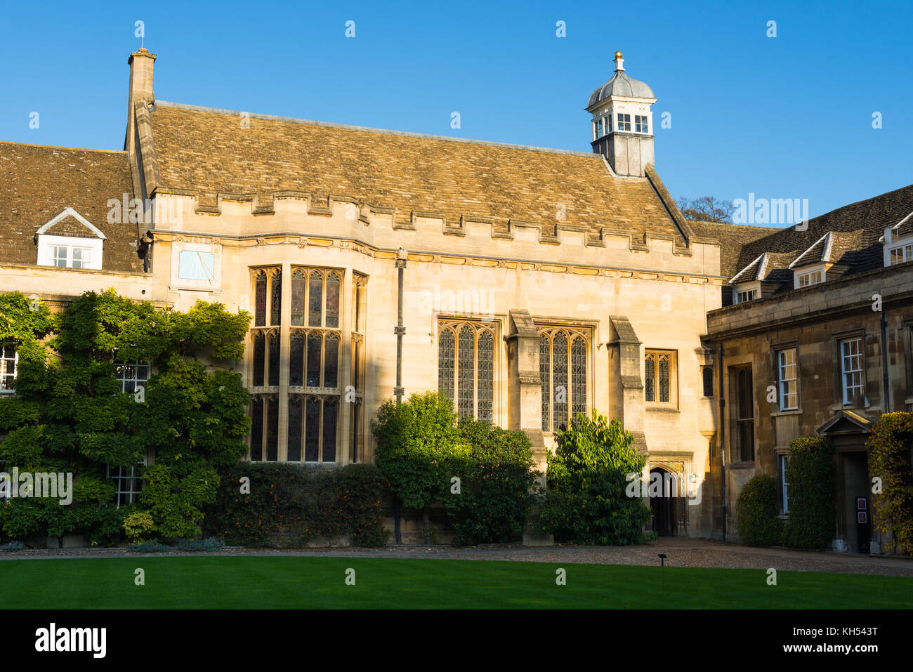 First Court building lawn Christ's College University of Cambridge England UK - Stock Image