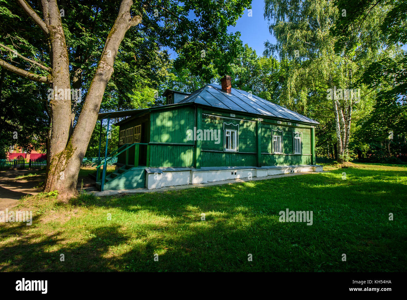 Family house of Dostoevsky in Darovoe, Moscow region. Russia. - Stock Image