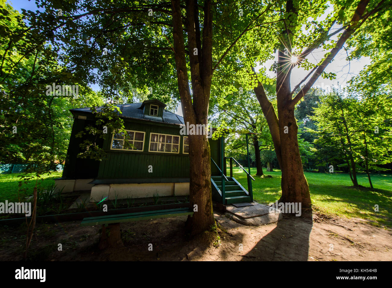 Family house of Dostoevsky in Darovoe, Moscow region. Russia. Stock Photo