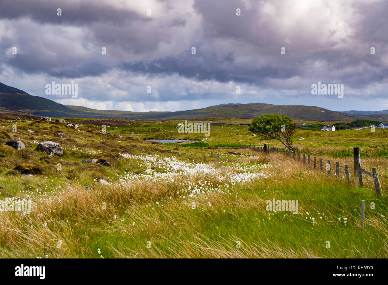 Hebridean Landscape, Howmore, South Uist, - Stock Image