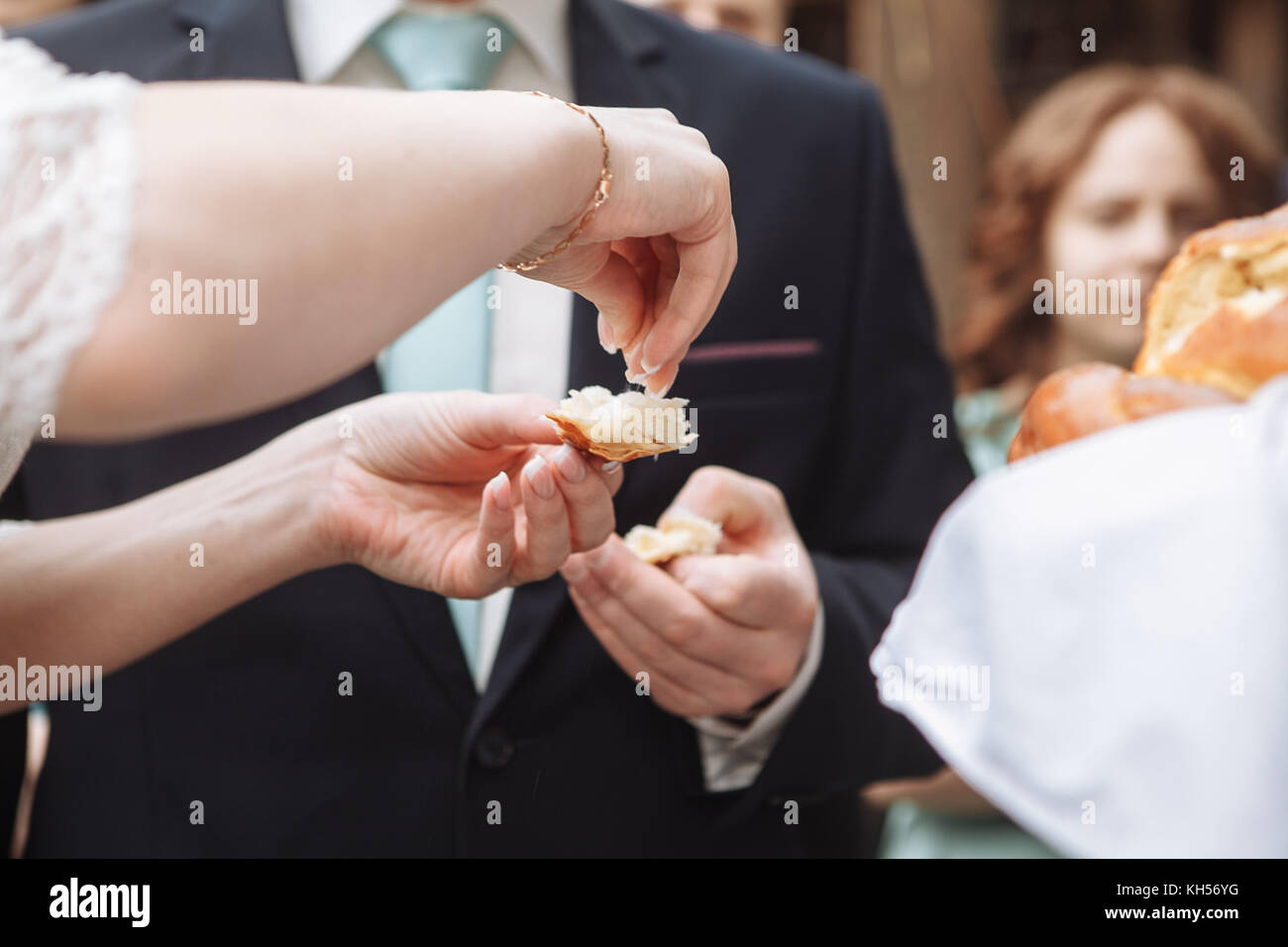 Traditional Ukrainian Food Wedding Reception Stock Photos