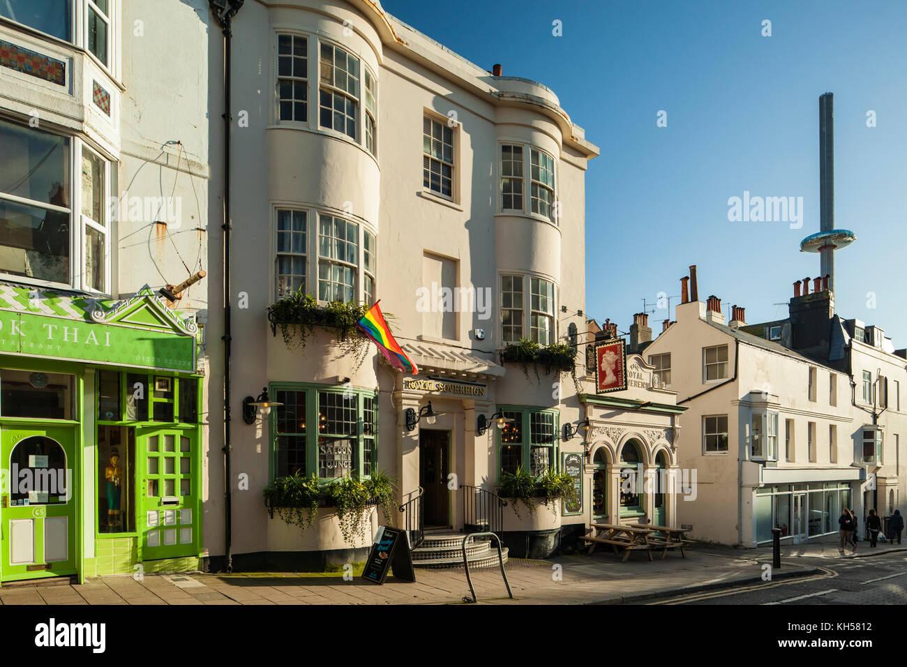 Brighton city centre, East Sussex, England. - Stock Image