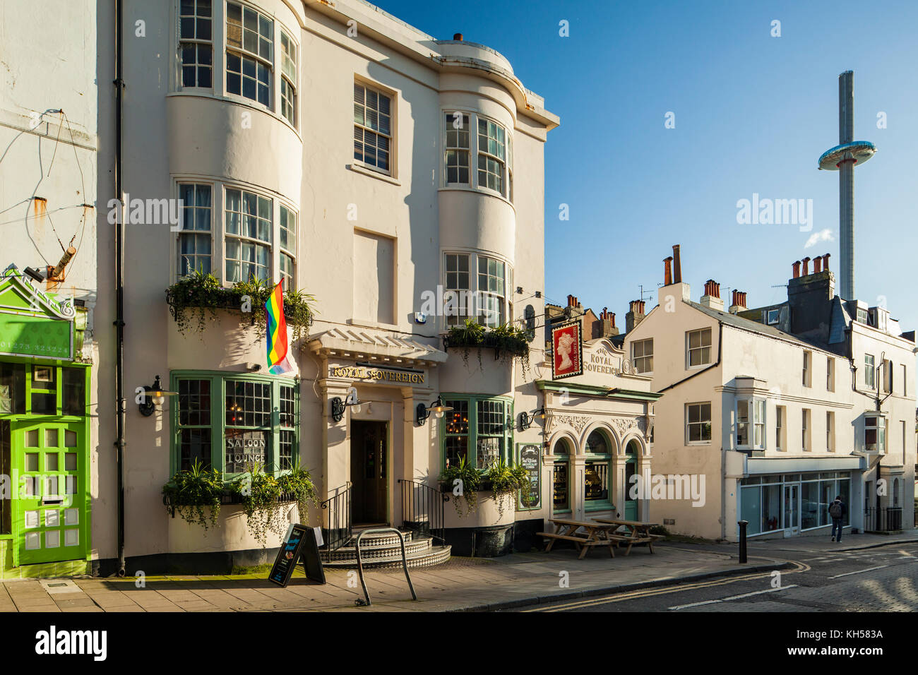 Autumn afternoon in Brighton city centre, East Sussex, England. - Stock Image