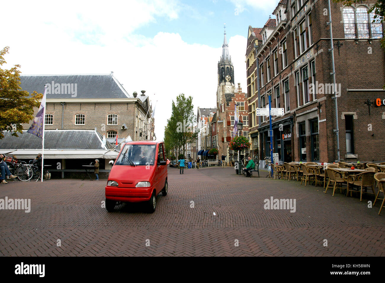 Canta disability microcar on the Cameretten, Delft - Stock Image