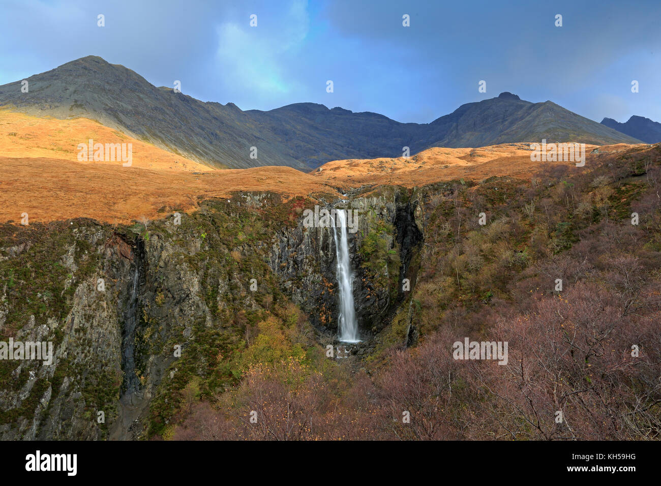 Eas More waterfall Isle of Skye - Stock Image