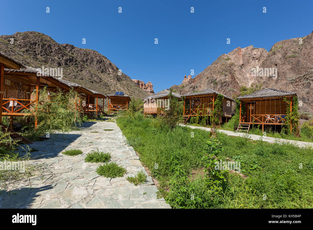 nature of Kazakhstan Charyn Canyon - Stock Image