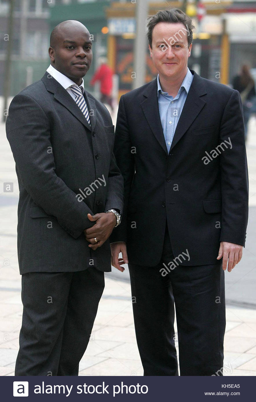 File photo dated 30/03/07 of David Cameron (right) with Shaun Bailey. Mr Bailey, who is now a Tory London Assembly - Stock Image