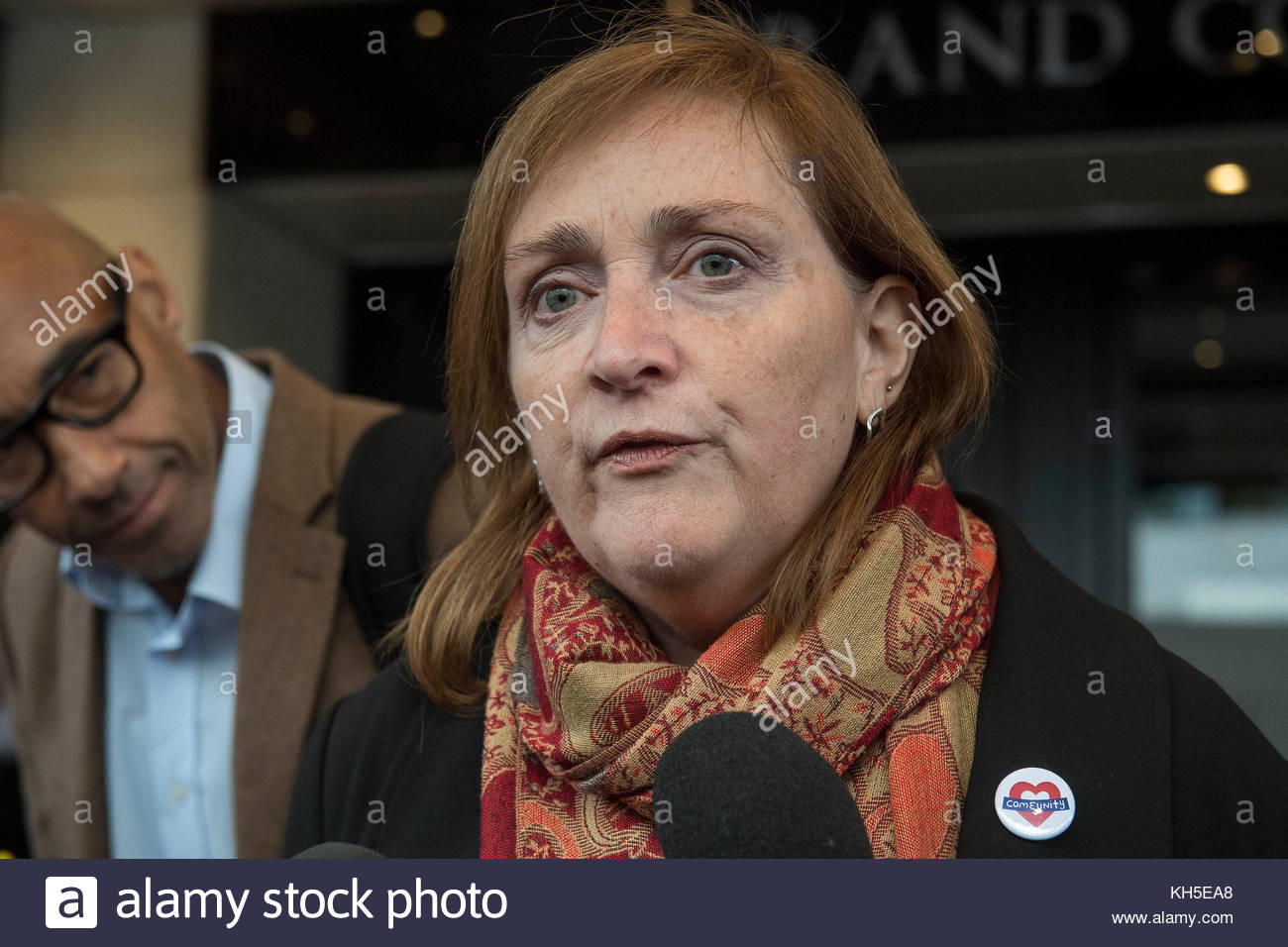 File photo dated 14/09/17 of Labour MP Emma Dent Coad, who has been accused by Tory London Assembly Shaun Bailey - Stock Image