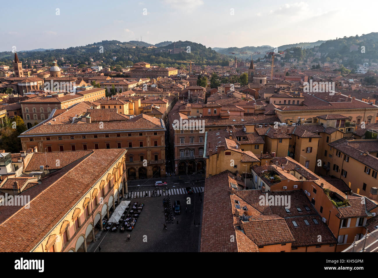 Bologna city skyline from the Terrazza di San Petronio viewing point ...
