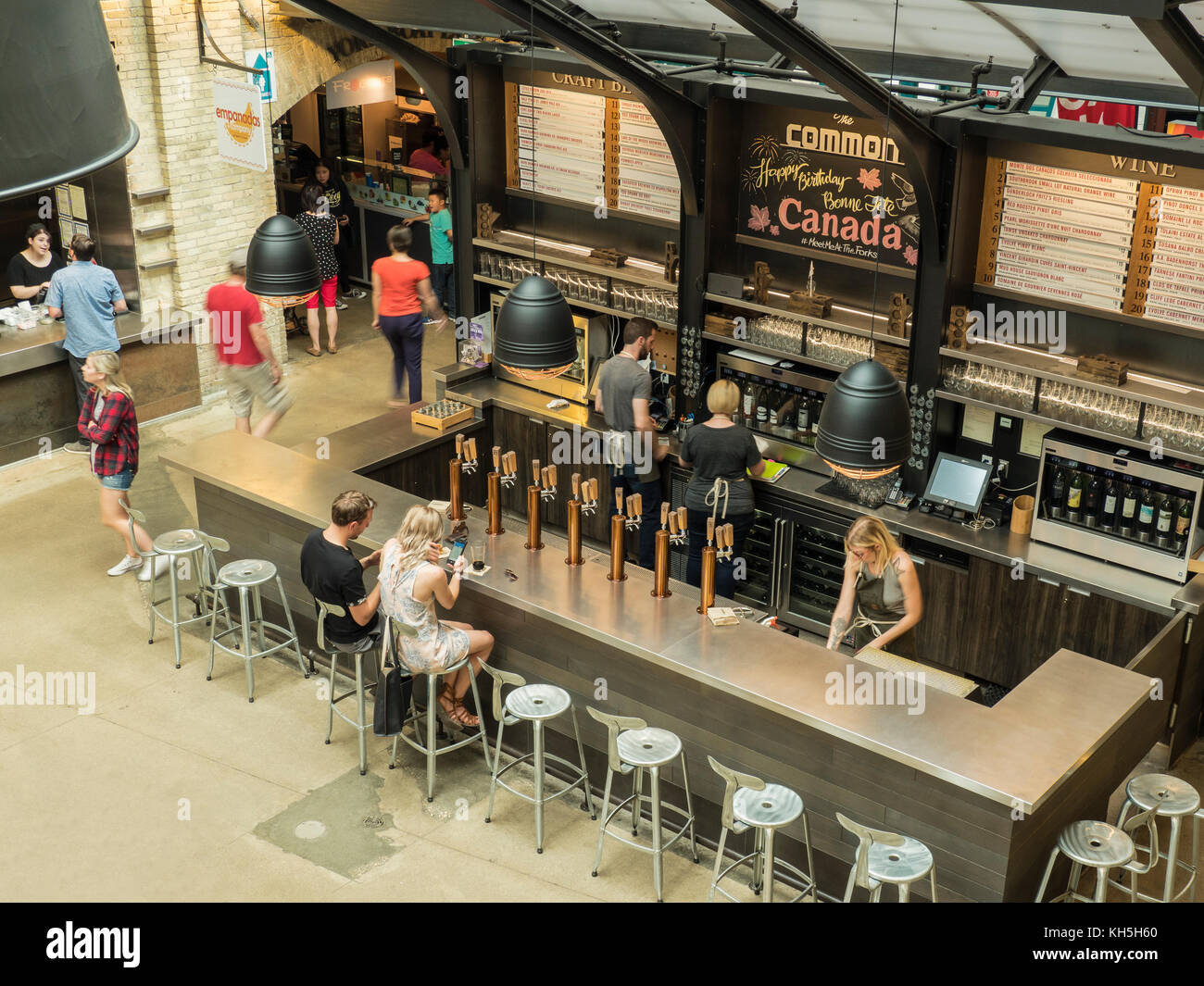 Inside the Forks Market, The Forks National Historic Site, Winnipeg, Manitoba, Canada. - Stock Image