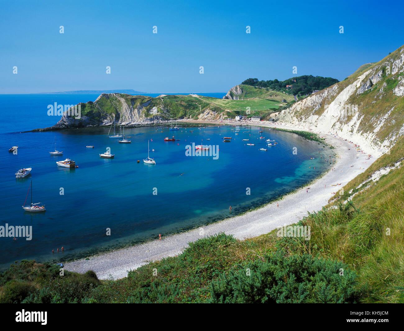 Lulworth Cove, Jurassic Coast, Dorset, England., UK. - Stock Image