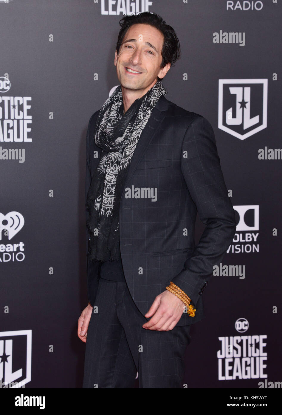 Los Angeles, USA. 13th Nov, 2017. Adrien Brody 027 attend the premiere of Warner Bros. Pictures' 'Justice - Stock Image