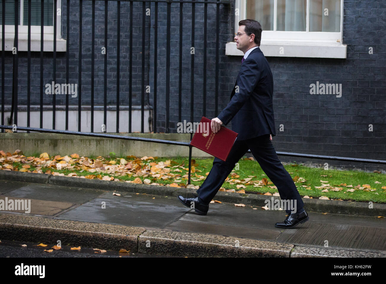 London, UK. 14th November, 2017. James Brokenshire MP, Secretary of State for Northern Ireland, arrives at 10 Downing - Stock Image