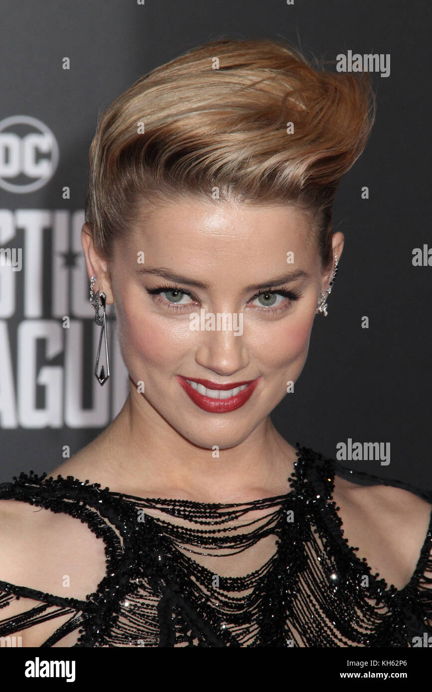 Amber Heard  11/13/2017 The World Premiere of 'Justice League' held at The Dolby Theater in Hollywood, CA - Stock Image