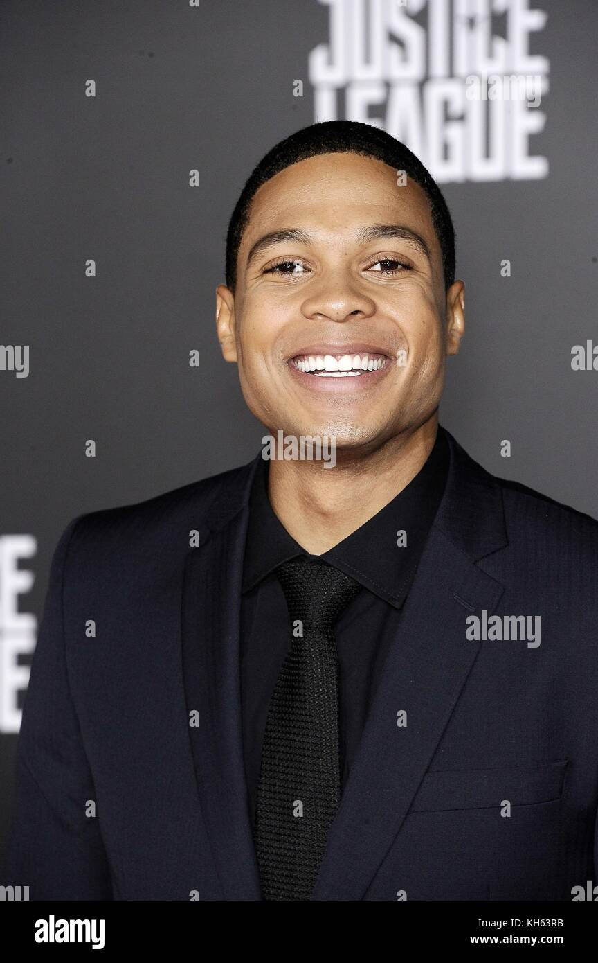 Los Angeles, CA, USA. 13th Nov, 2017. Ray Fisher at arrivals for JUSTICE LEAGUE Premiere, The Dolby Theatre at Hollywood - Stock Image