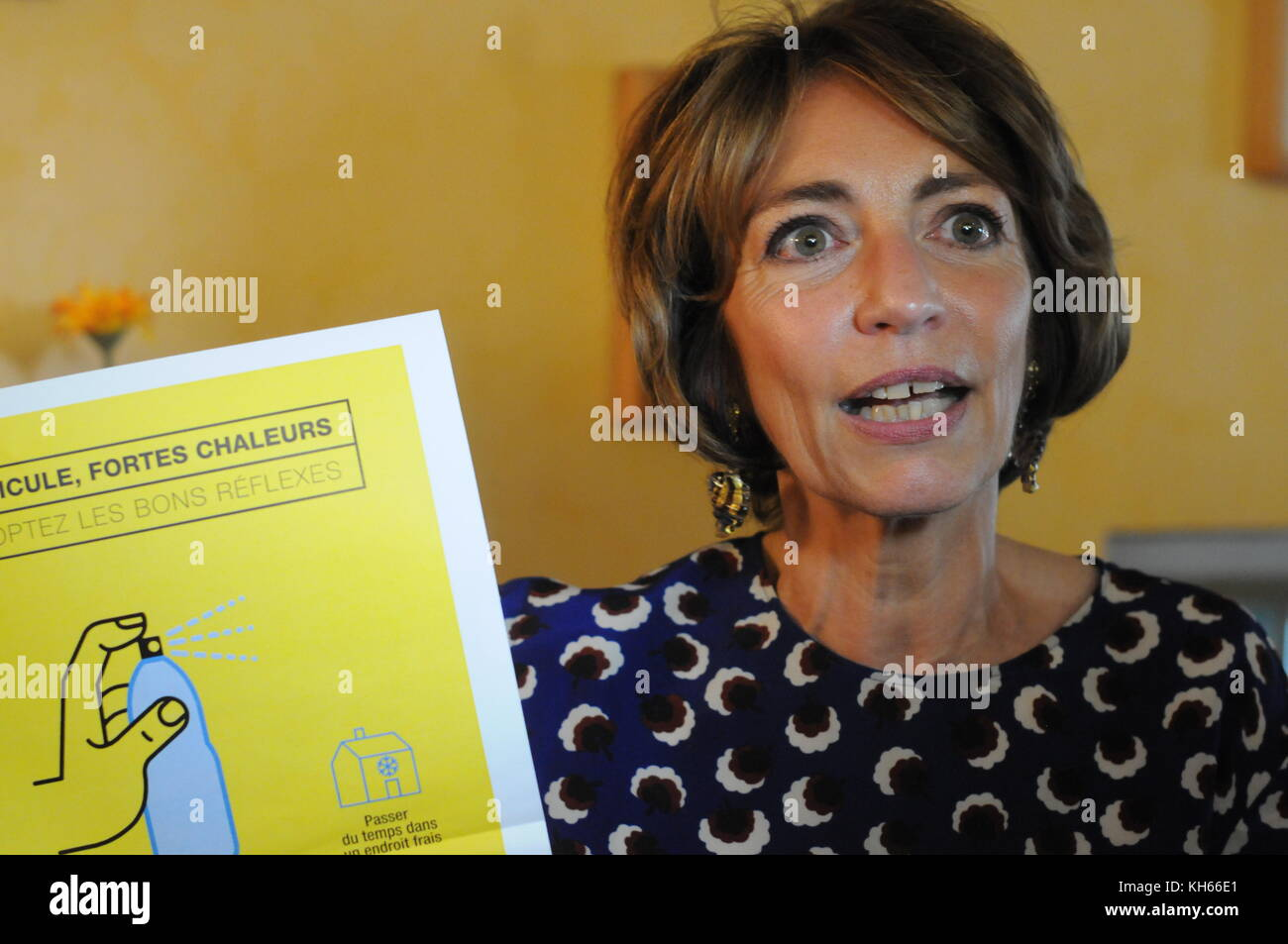 Marisol Touraine, French Minister of Health, pays visit to an EPAHD, Lyon, France - Stock Image