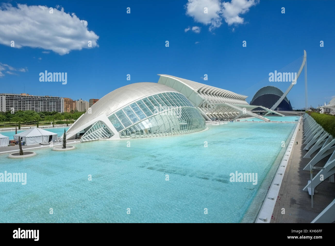 City of Arts and Sciences in Valencia, Spain - Stock Image