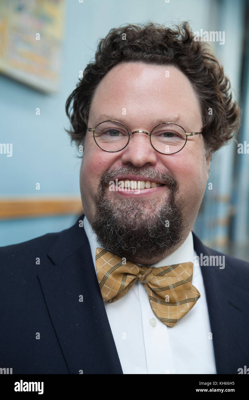 EDWARD BLOM  writer and television personality in Sweden 2017 - Stock Image