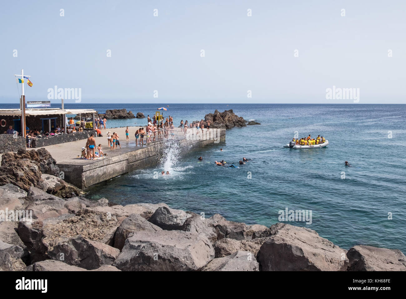Playa Chica Puerto Del Carmen Lanzarote Canary Islands Spain Stock Photo Alamy