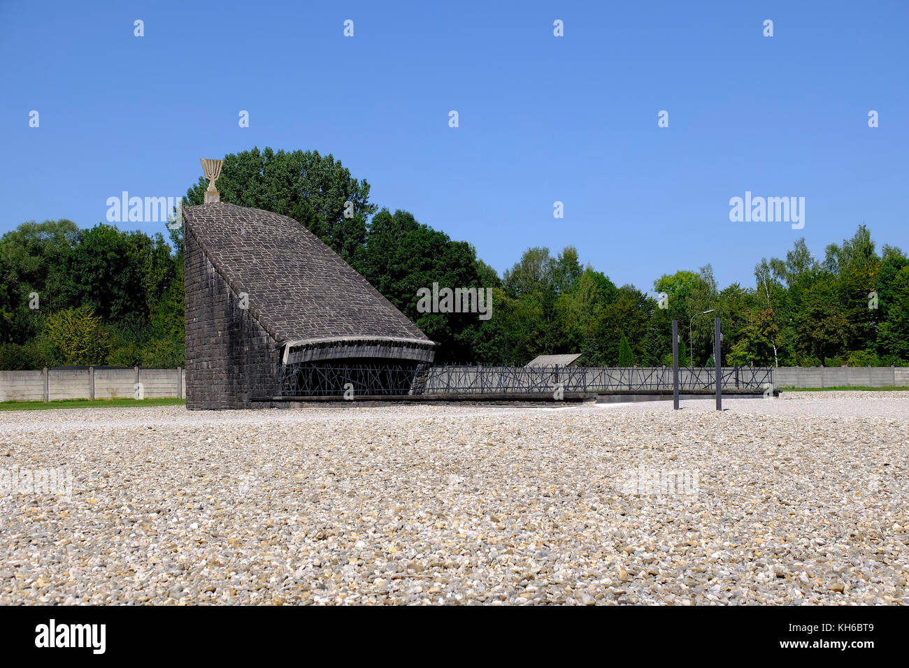 Jewish Memorial. Dachau Concentration Camp, Germany. - Stock Image