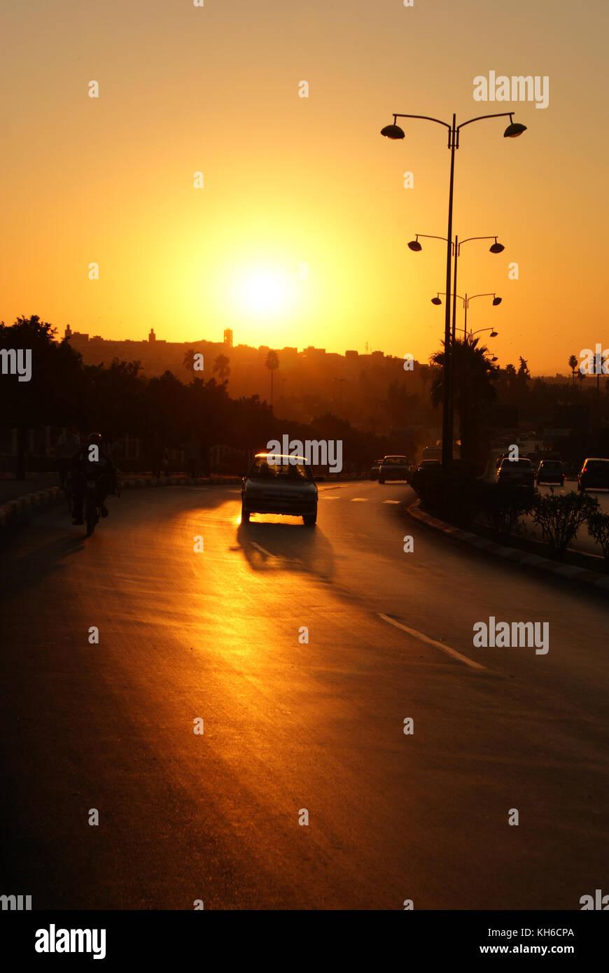 Sunset over Meknes - Stock Image